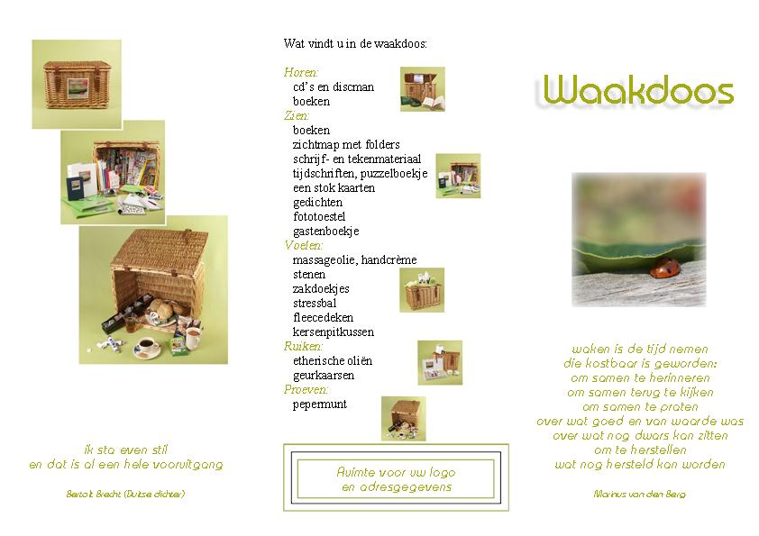 Brochure Waakdoos - buitenkant